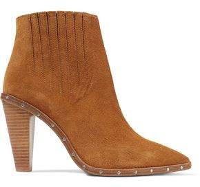 IRO Noliana Stud-Embellished Suede Ankle Boots