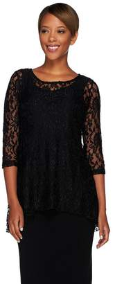 Women With Control Attitudes by Renee Lace Tunic and Jersey Knit Tank Set