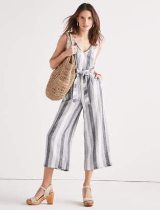 Lucky Brand STRIPE TIE BACK JUMPSUIT