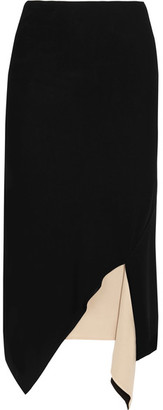 DKNY - Reversible Asymmetric Jersey Skirt - Black $300 thestylecure.com