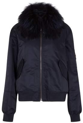 Yves Salomon Navy Fur
