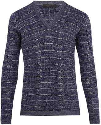 Prada V-neck wool-blend sweater