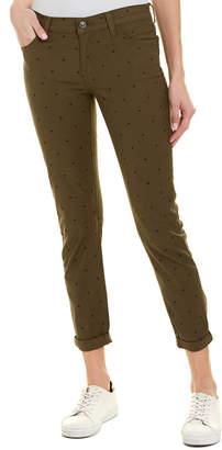 Current/Elliott The Easy Stiletto Rural Green Polka Dot Skinny Leg