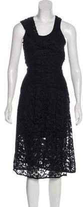 Thakoon Lace Overlay Midi Dress