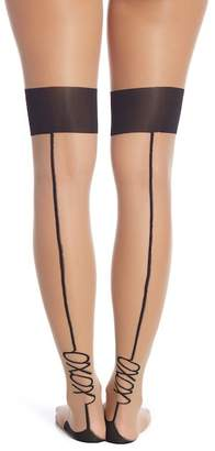 Pretty Polly Hugs & Kisses Sheer Thigh High Stockings