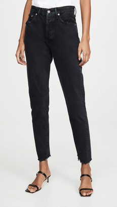 A Gold E Agolde Jamie High Rise Classic Jeans