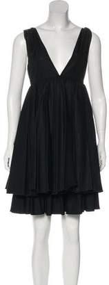 Miu Miu Pleated Empire Dress