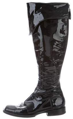 Chanel Patent Leather Over-the-Knee Boots