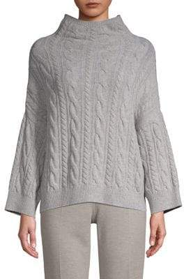 Max Mara Fungo Mockneck Cable Knit Sweater