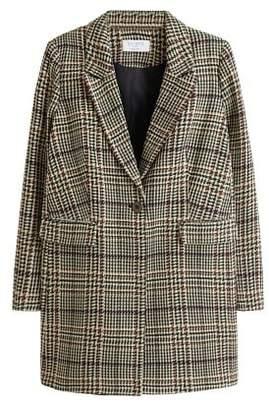 Violeta BY MANGO Textured structured coat
