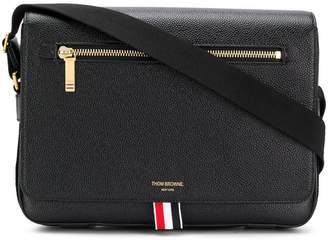 Thom Browne Tonal Strap Leather Reporter Bag