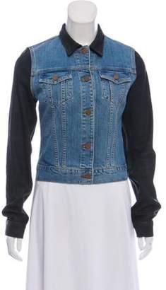 J Brand Colorblock Denim Jacket blue Colorblock Denim Jacket