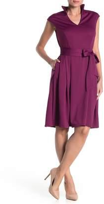 Alexia Admor Cap Sleeve Belted Waist Dress