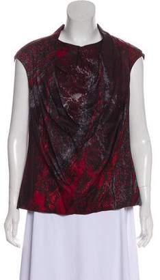 Halston Silk Printed Top