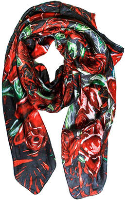 Annika Connor By Shawlux Roses Silk Scarf