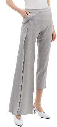 Hellessy 'Reflection' stripe outseam drape panel cropped pants