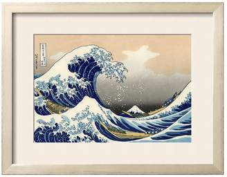 The Art Studio Under the Wave Off Kanagawa by Katsushika Hokusai (Framed)
