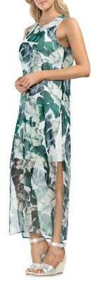 Vince Camuto Topic Heat Jungle Palm-Print Maxi Dress