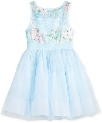 Marmellata Floral-Lace Mesh Party Dress, Toddler & Little Girls (2T-6X) $74 thestylecure.com
