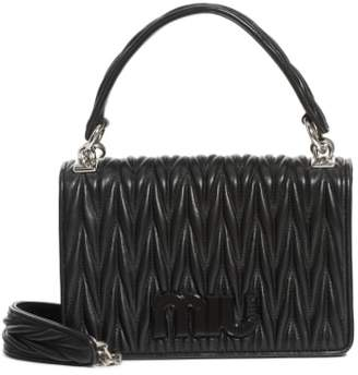 Miu Miu Matelasse Quilted Lambskin Leather Top Handle Bag
