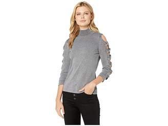 CeCe Long Sleeve Turtleneck Sweater w/ Bows