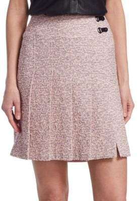 Akris Punto Tweed Pleated Skirt