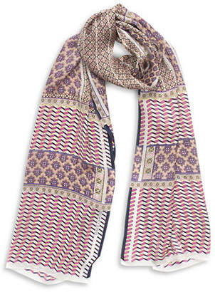Vince Camuto Floral Silk Long Scarf