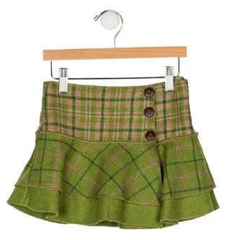 Catimini Girls' Plaid Skirt