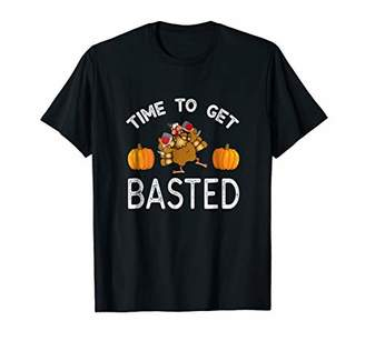 Time To Get Basted Funny Thanks giving t shirt Turkey Shirt