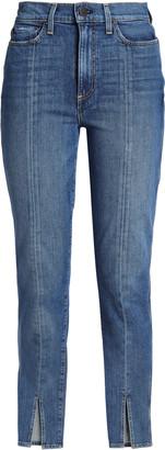 Alice + Olivia Good Cropped High-rise Slim-leg Jeans