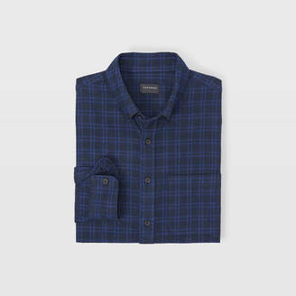 Club Monaco Slim Plaid Jaspe Shirt