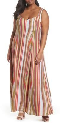 Rachel Roy Stripe Strappy Maxi Dress