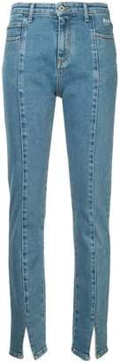 MSGM front-slit straight leg jeans
