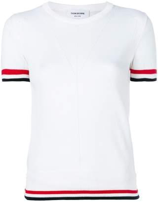 Thom Browne contrast trim T-shirt
