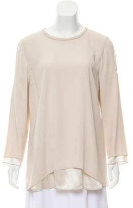 Brunello Cucinelli Layered Silk Top