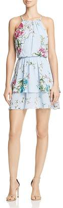 AQUA Floral Fit-and-Flare Dress - 100% Exclusive $88 thestylecure.com