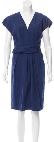 pradaPrada Pleated Knee-Length Dress