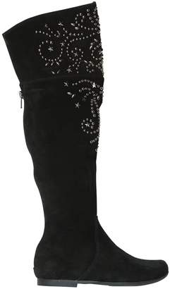 Ermanno Scervino Studded Suede Boots