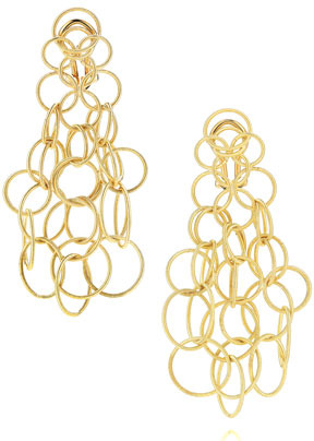 Buccellati Hawaii 18k Gold Link Earrings