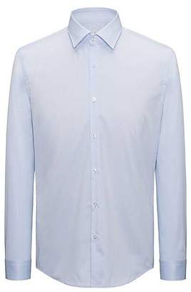 HUGO BOSS Long-sleeved shirt in cotton twill