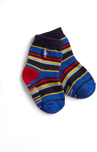 Ralph Lauren Infant's Multicolor Striped Crew Socks