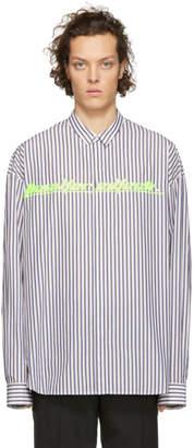 Juun.J White and Blue Thealteredtech Shirt