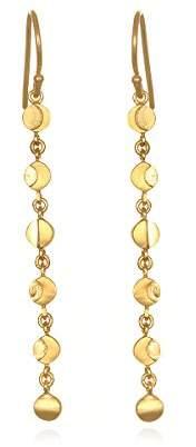 Satya Jewelry Plate Moon Phase Drop Earrings