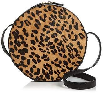 Aqua Medium Leopard-Print Calf Hair Crossbody - 100% Exclusive
