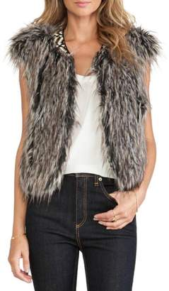 Twelfth Street By Cynthia Vincent Faux Fur Vest