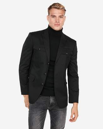 Express Military Patch Pocket Blazer