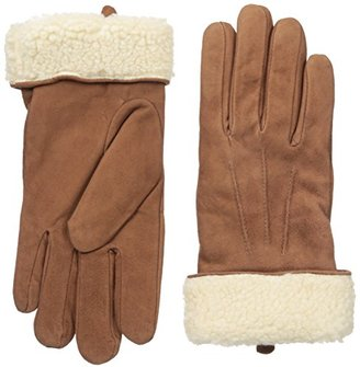 Adrienne Vittadini Women's Soft Suede and Sherpa Lined Gloves $98 thestylecure.com