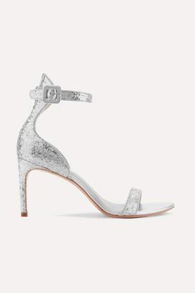 Sophia Webster Nicole Glittered Leather Sandals - Silver