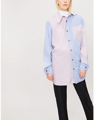 Vivienne Westwood Lottie patchwork-stripe cotton shirt