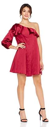 Cambridge Silversmiths Women's Satin One-Shoulder Shift Dress 6